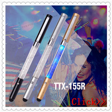 Business anniversary gifts metal led torch light stylus ball pen