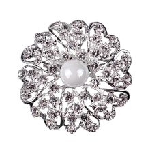 Custom made Cheap wedding extra large diamante jewelry accessory brooch in bulk