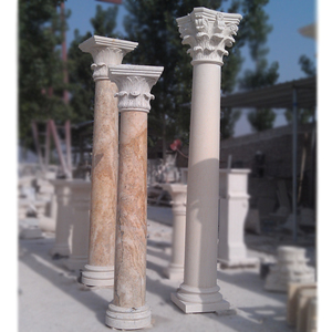 High Quality Round House Gate Roman Marble Pillar Design For Sale