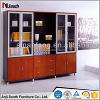 Top quality popular office cabinet, glass door cabinet for filing, commercial furniture