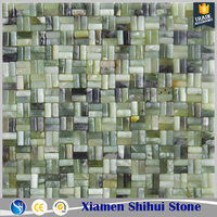 Ming green marble mosaic floor tile for bathroom