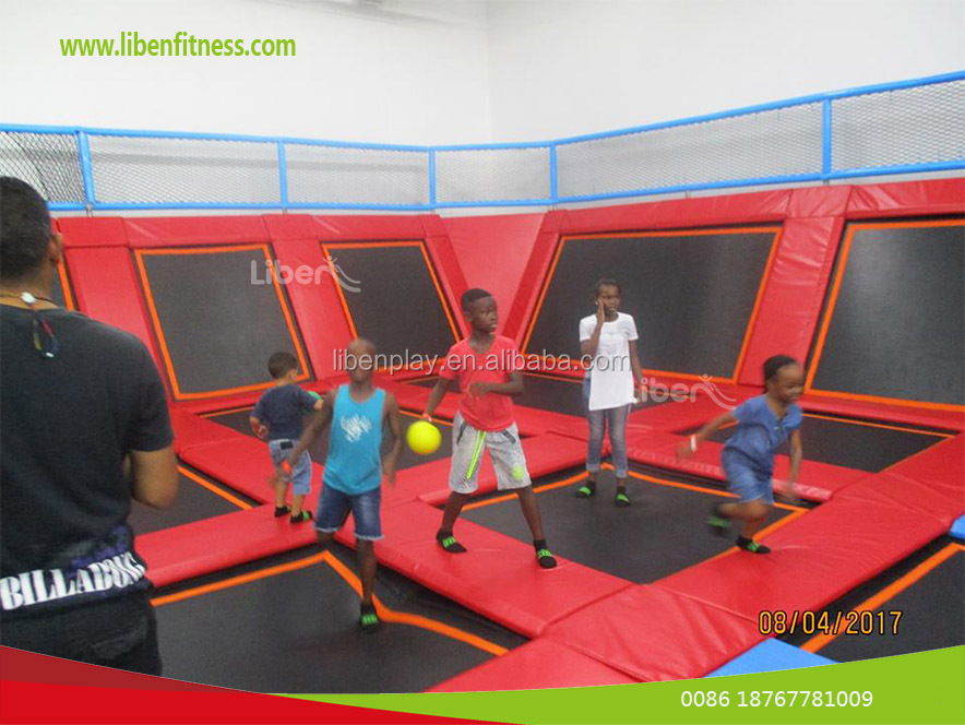 Liben South Africa indoor trampoline park project with Ninja course Gravity trampoline park