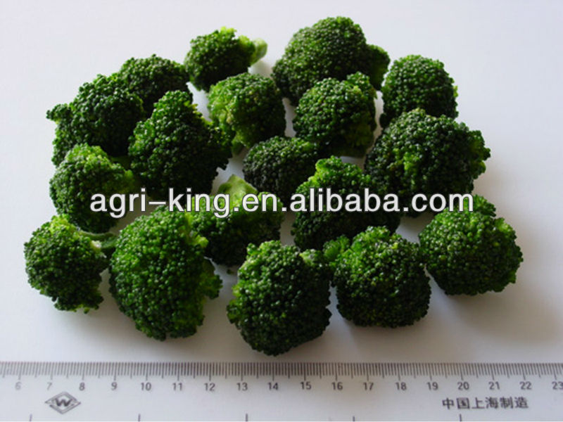 frozen green/white broccoli