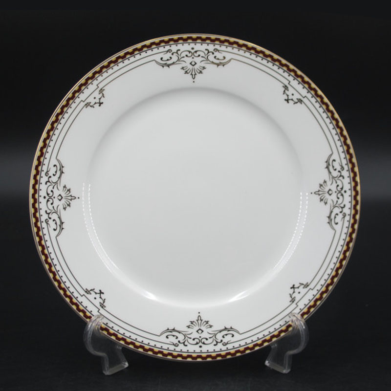 7.5inch Oval decal bone china dinner plate