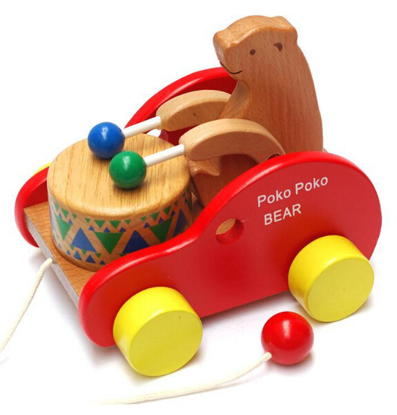Early Childhood Educational Toys : Kids push pull toys early childhood educational wooden