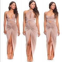 MS65991W long halter women fashion sexy evening dress