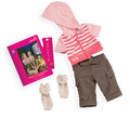18 inch girl doll clothes and accessories 1pcs outfit 1pcs pants 1pair socks AMERICAN PRINCESS clothes