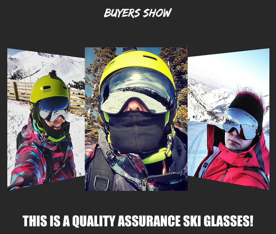 e049d782f05 2019 2017 New Ski Goggles Double Layers Anti Fog Big Ski Mask UV400 ...