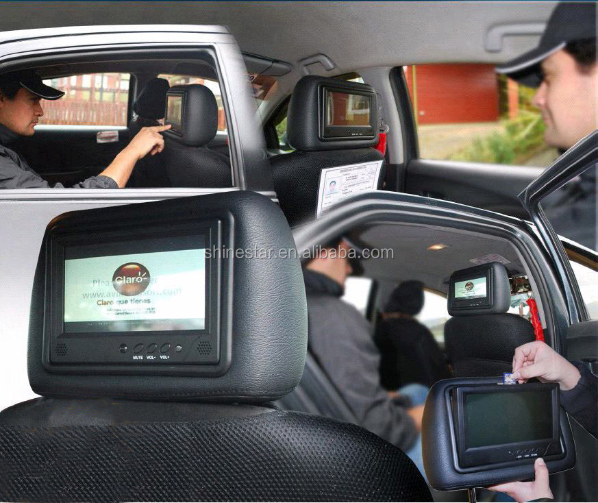 wifi 3G network cab taxi 9 inch LCD headrest android advertising screen