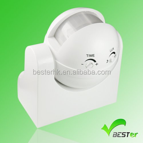 IP44 wall mounted occupancy led motion sensor switch with delay time and lux ajustable