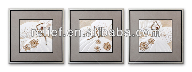 Hot sale wall relief painting ribbon picture frames
