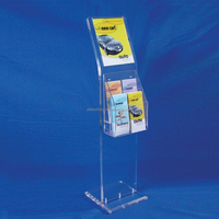 Flooring acrylic outdoor newspaper racks acrylic newspaper floor stand