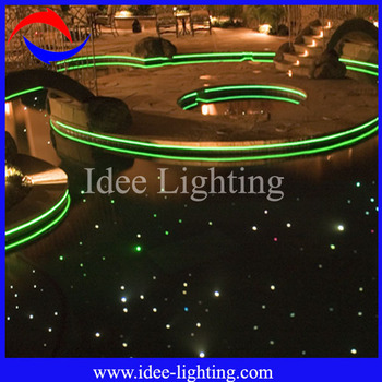 big diameter fiber optic led light swimming pool rope light ground