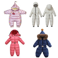 wholesale newborn kid infant onesie warm down boy girl jumpsuit Snowsuit coat set clothes baby winter rompers for toddlers