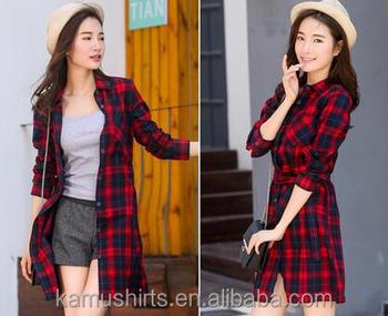 ab168d5066 Wholesale Ladies Fashion Long Shirt Cotton Red Black Check Shirts - Buy  Woman Long Shirts,Black And White Check Shirt,Woman Fashion Shirts Product  on ...