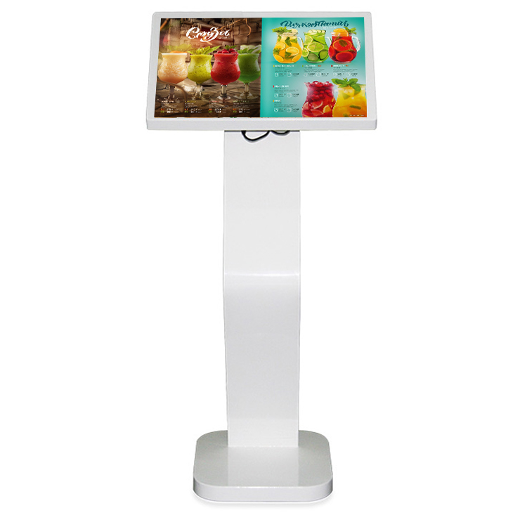 2020 YC-22T Floor standing digital signage totem <strong>22</strong> inch interactive restaurant e-menu touch screen payment kiosk