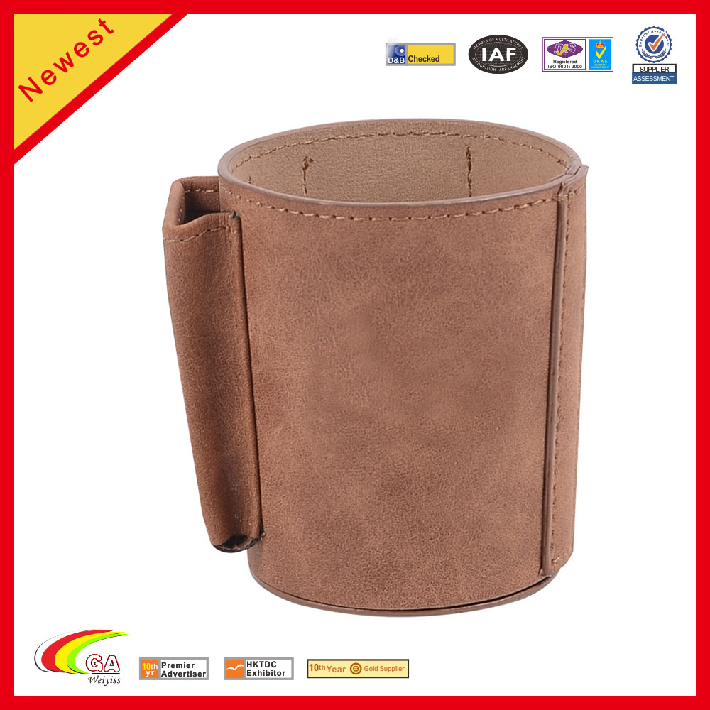 Customized Handmade PU Leather Tea Cup Sleeve Cup Holder