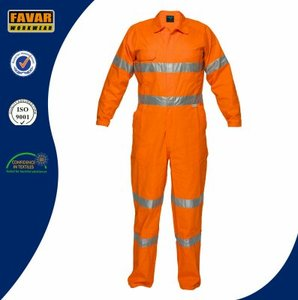 Favar Garment Fire retardant safety coverall protective coverall with reflective tape workwear for oil and gas industry