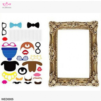 24pcs Vintage Wedding Antique Picture Frame Decoration Birthday Party Funny Photo Booth Props