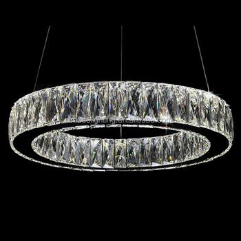 modern led crystal chandelier lamp stainless steel cristal pendant hanging light suspension. Black Bedroom Furniture Sets. Home Design Ideas
