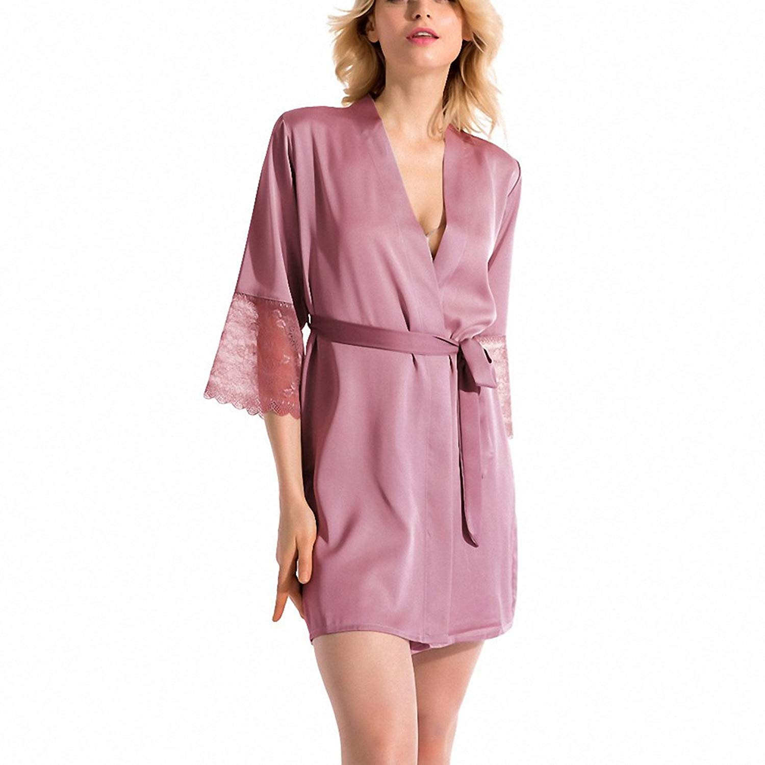 Get Quotations · Summer Dress Silk Robe Women s Pajamas Sexy Bathrobe Dressing  Gowns for Women Mantle Lingerie Pajamas and 5f0b5d10e