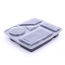 PP plástico descartável takeaway divisor lunch box food grade plastic lunch box com compartimento