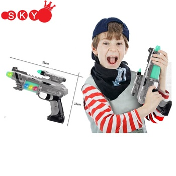New Arrival light up Laser Light Sound Music plastic gun toy children laser gun toys for kids
