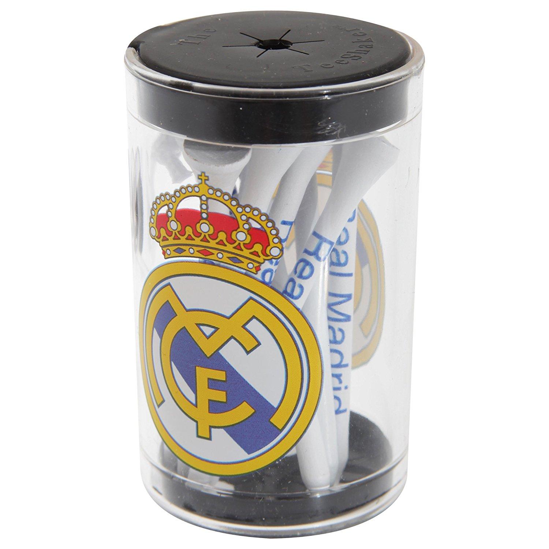 Real Madrid FC Official Football Crest Golf Tee Shaker Set