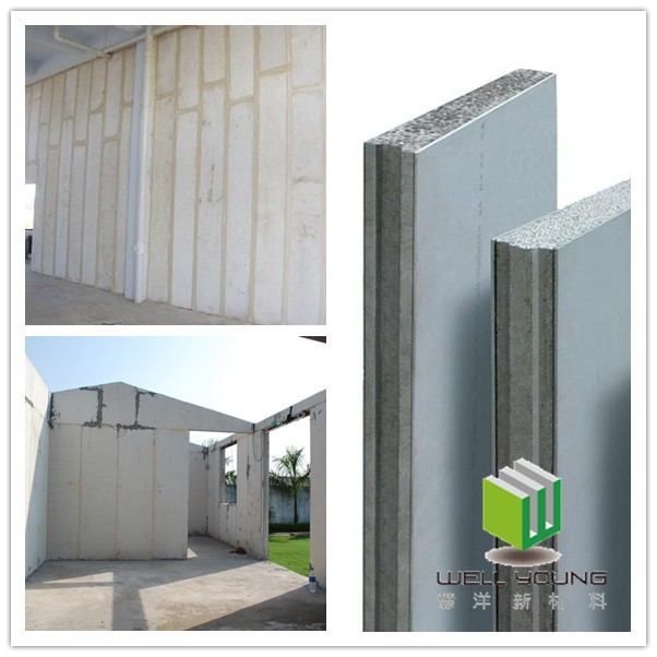 Lightweight easy installation eps concrete sandwich wall panel prefabricated wall panels buy for Precast concrete exterior wall panels