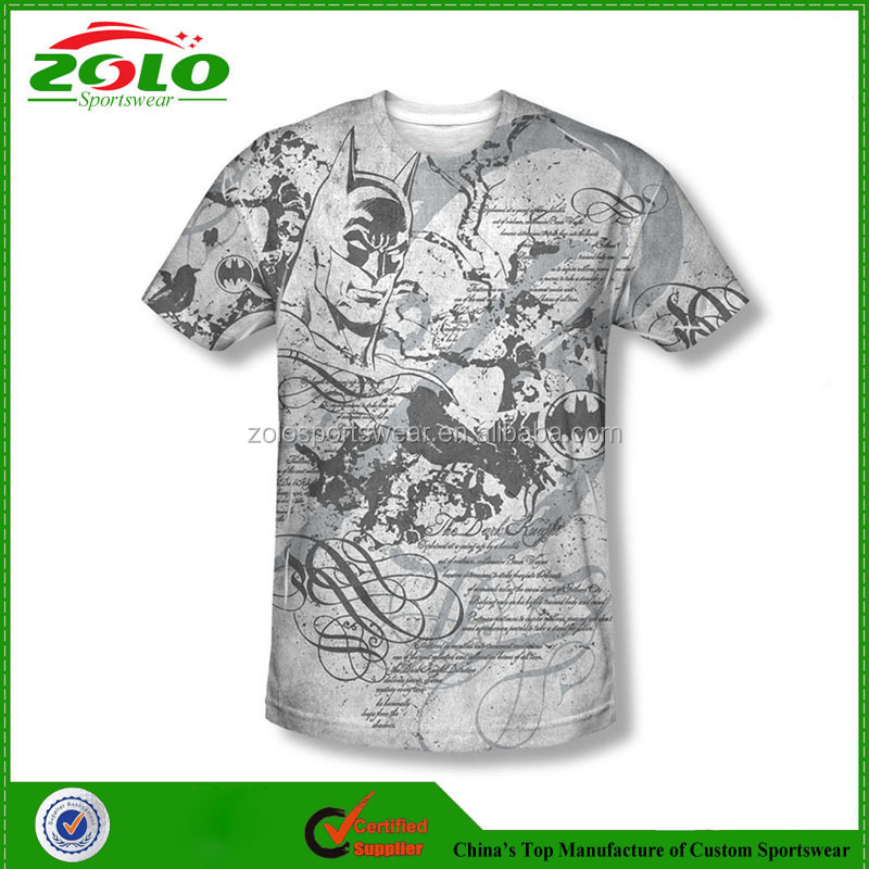 Best Selling Adult Men's Good Quality Sublimated Running T-Shirts