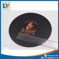 material EVA+PVC Like Leather Customized Round Mouse Pad