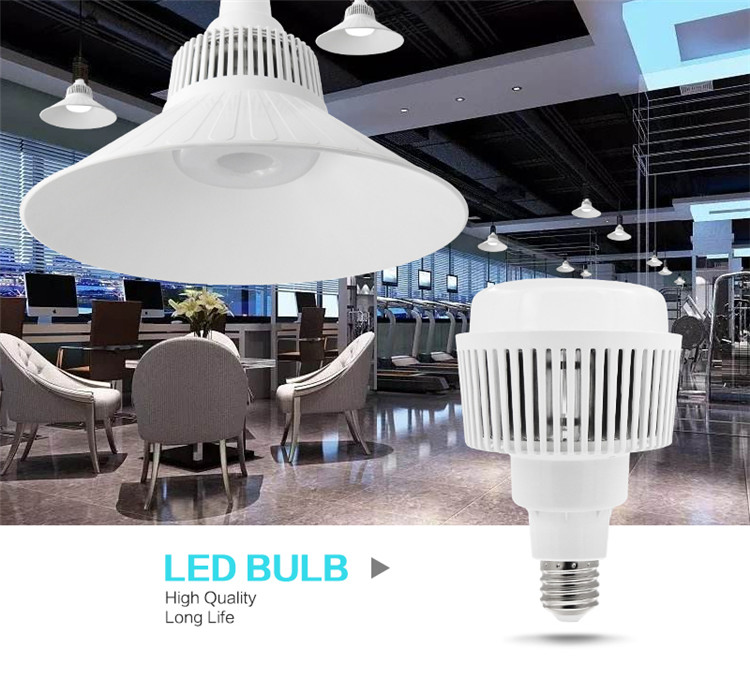 Factory Price E27 LED Light Bulb With Diffuser 50W 80W 100W High Bay Light