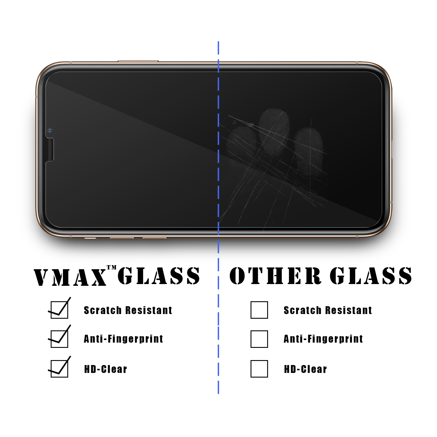 OEM/ODM matte 2.5D 9H normal anti-explosion tempered glass screen protector for New iPhone XS XS MAX