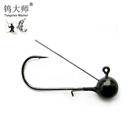 Chinese bass fishing tungsten barbless fishhooks(withoubarble) with TiNi wire guard