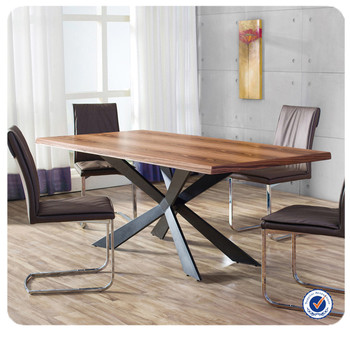 Wholesale European Style Wooden Dining Table Metal Legs,Oak Dining Table -  Buy Metal Dining Table,Oak Dining Table,Wooden Dining Table Product on ...