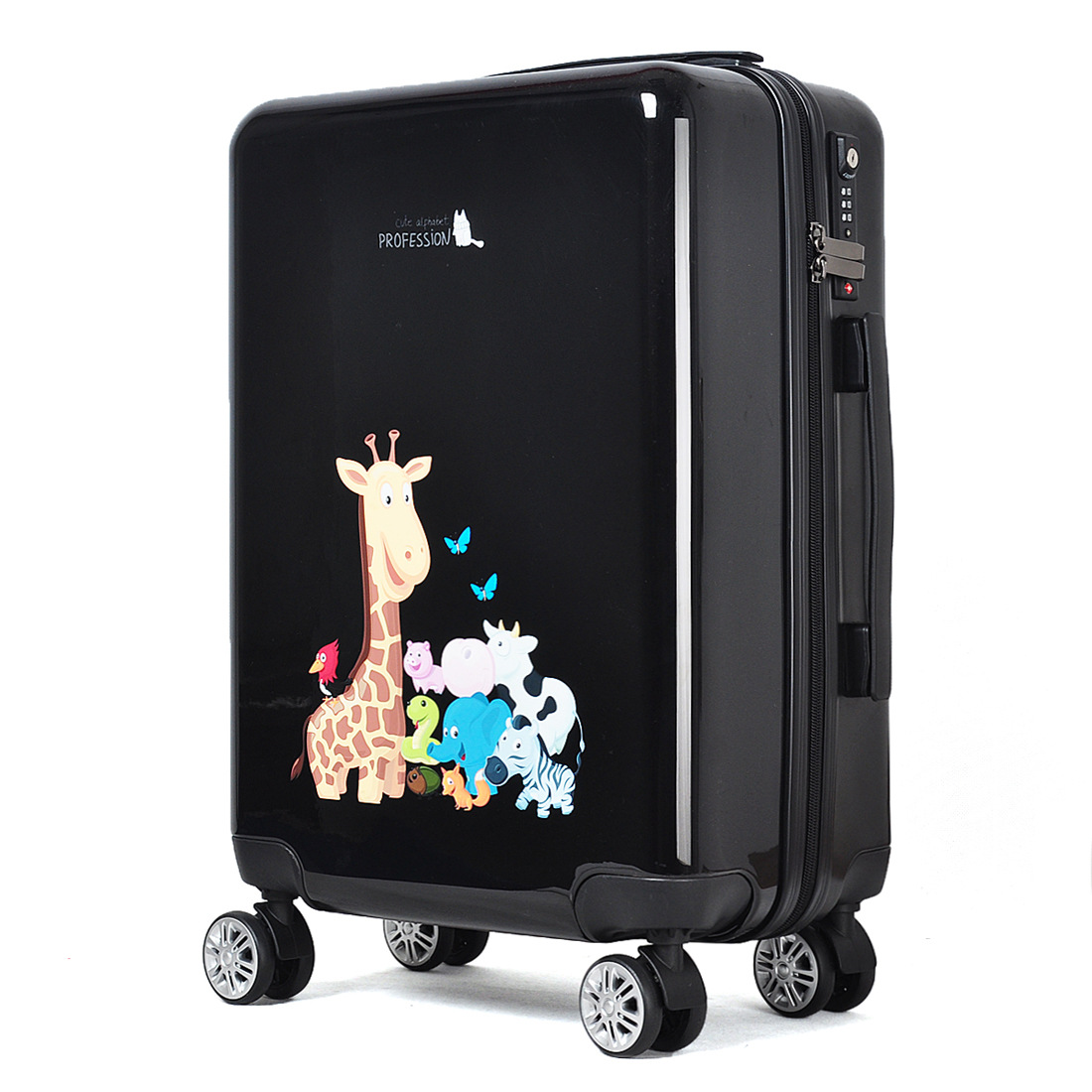 Cartoon Pattern Abs PC Luggage Sets 3 Piece Hard Shell Trolley Luggage