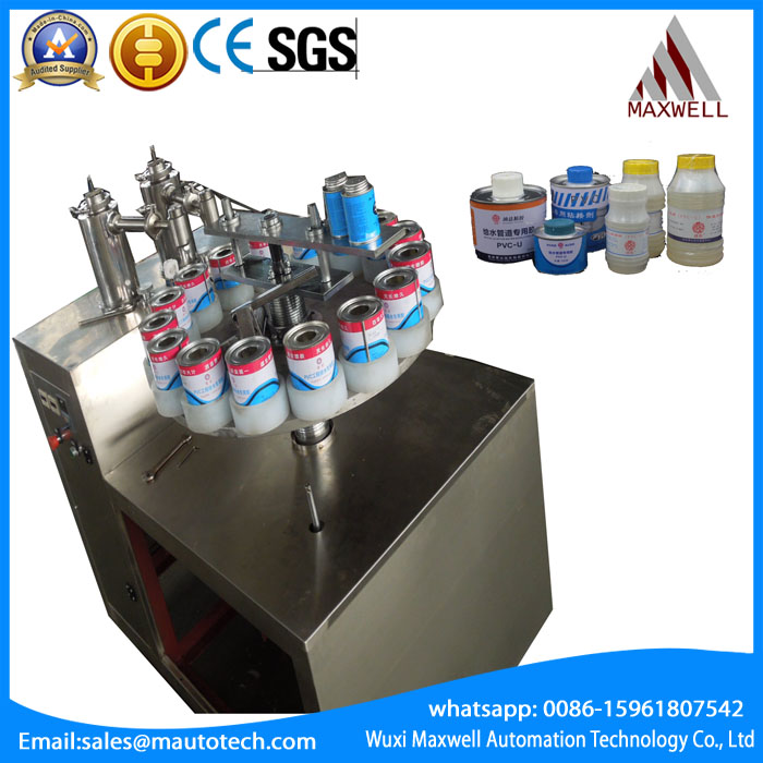 Professional pvc glue fill and cap machine With Good Service