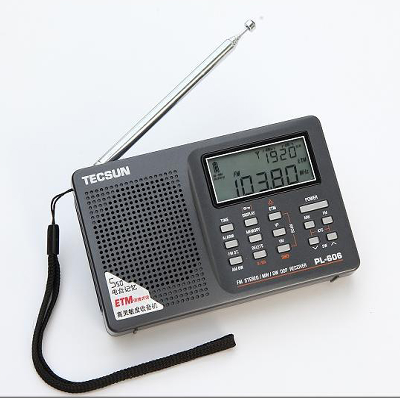 cheap sale fm stereo am long wave short wave radio pl606 am fm radio portable radio tecsun pl. Black Bedroom Furniture Sets. Home Design Ideas