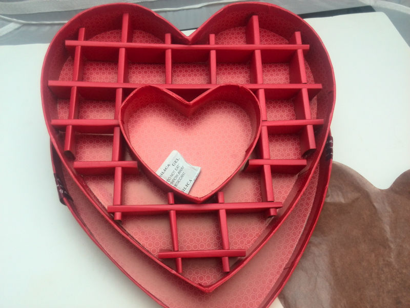With Grid Extra Large Decorated Heart Shaped Chocolate Box - Buy ...