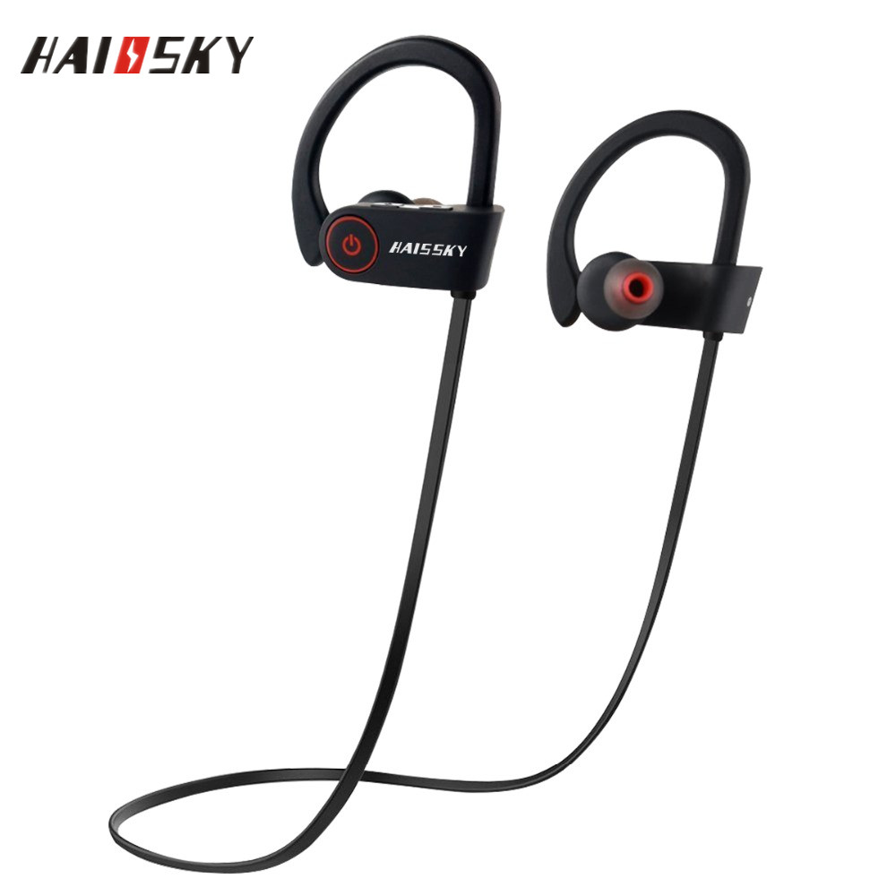 HAISSKY <strong>Bluetooth</strong> 4.1 Wireless Earphone Headphone Headset Sport Stereo Ear Hook For iPhone 7 for Xiaomi Mi5