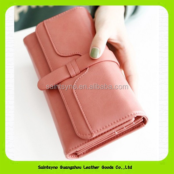 15420 Triflod <strong>wallet</strong> purse women hand <strong>wallet</strong> with genuine leather