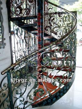 Hot Sale Wrought Iron Wood Stair Grill Design Buy Wrought Iron