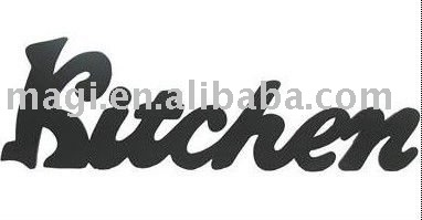 noir couleur cuisine de table en bois décoratif lettres-arts ... - Lettres Decoratives Cuisine