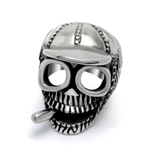 316 stainless steel smoker hat skull rings,fashion children gothic skull rings (HF-083)