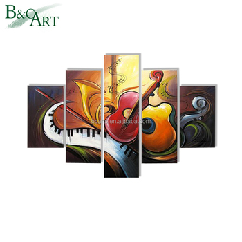 Abstract Art Music Theme Wall Decoration 5 Group Painting