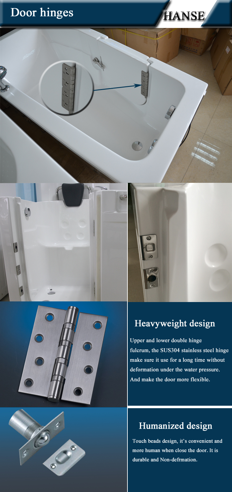 Hs-1104 Bathroom Massage Small Deep Old People Bathtub For One ...