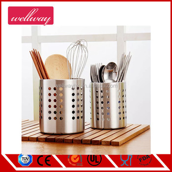Strong & Durable Stainless Steel Kitchen Utensil Holder/flatware  Caddy/spatula Cookware Cutlery Drying Storage Organizer - Buy Strong &  Durable ...