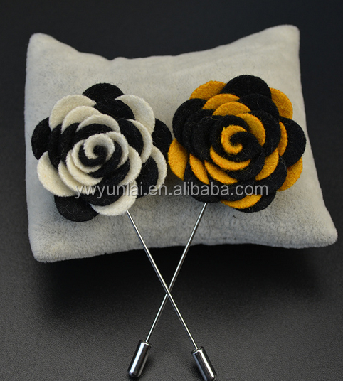 HANDMADE Boutonniere Men's Brooch for Formal Occasion stock