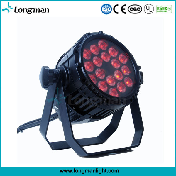 waterproof dmx ip65 18x10w rgbw par led for outdoor stage