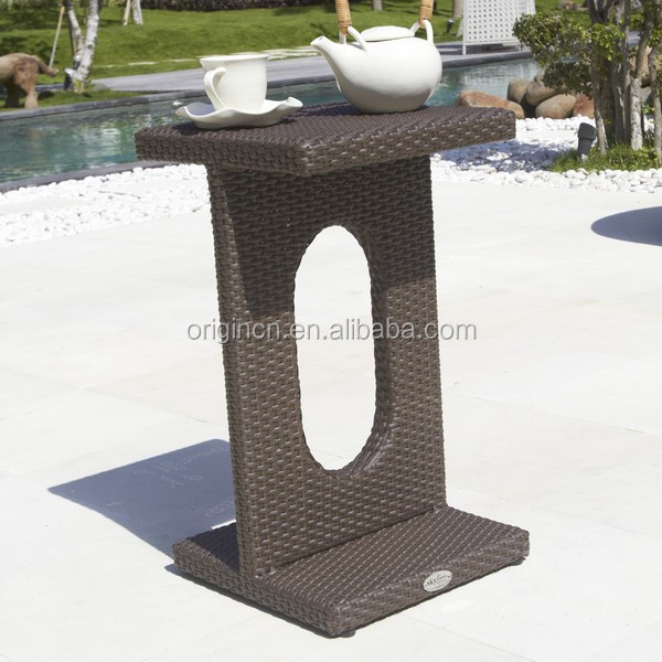 Modern design hotel outdoor swimming pool product rattan coffee tables furniture